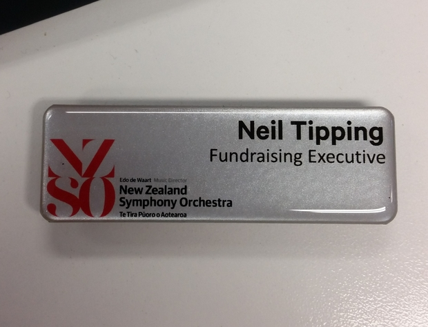 Nick's name badge at the NZSO didn't quite go to plan, leading to a nickname that stuck.