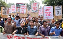 There have been protests in Bangladesh for the government to ensure the security of its citizens since the attacks began.
