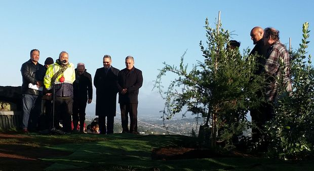 Several hundred people attended a dawn ceremony to plant nine native trees at the top of Auckland's Māungakiekie, or One Tree Hill, this morning.