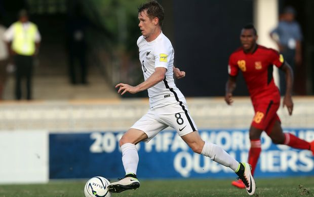 New Zealand's Michael McGlinchey on the break against PNG.