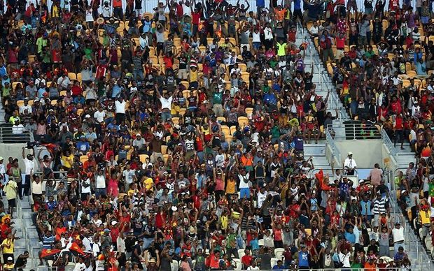 Sir John Guise Stadium was packed for the OFC Nations Cup final between hosts Papua New Guinea and eventual champions New Zealand.