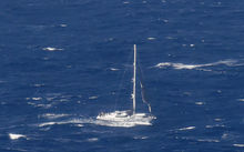 SV Platino pictured about 255km north of New Zealand.