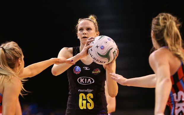 Magic shooter Jo Harten in action against the Tactix in 2014 Photo: Joseph Johnson/www.photosport.co.nz