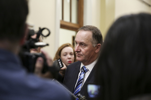 14062016 Photo: RNZ/Rebekah Parsons-King. John Key talks about the effects of the Orlando shooting.