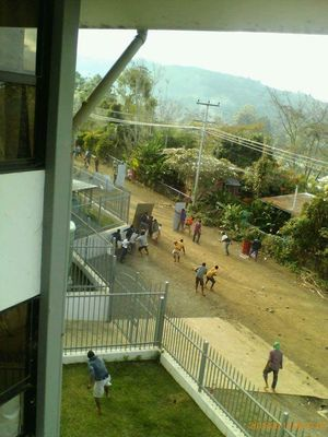Goroka witnessed scenes of chaos as student skirmishes spread through town.