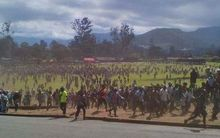 Fighting between university students spread through Goroka quickly.