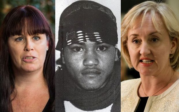Left to right: Ingrid Squire, Teina Pora (photo from the early 1990s) and Amy Adams