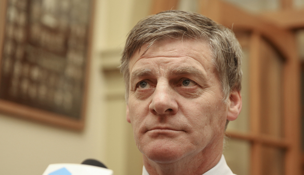 14062016 Photo: RNZ/Rebekah Parsons-King. Bill English, caucus run.