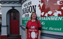 Joanna Howard, who co-owns the Welsh Dragon Bar in Wellington.