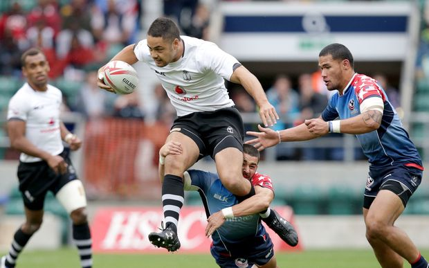 Jarryd Hayne in action for Fiji at the London Sevens.