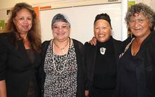 Polynesian Panthers Party sisters including Dr Melani Anae (Left) and Miriama Rauhihi Ness (centre).