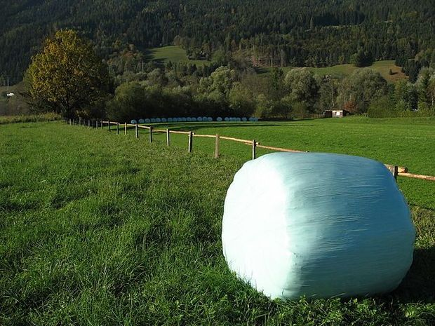 Wrapped Hay Bale in Austria