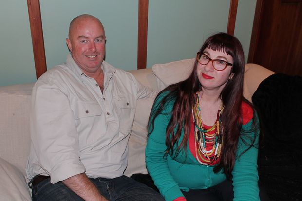A photo of Noel Keenan and Nicola Devine whose son, Tanner, was still born.