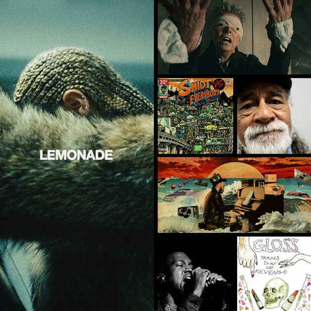 Album covers for RNZ Music's best music of 2016 so far.