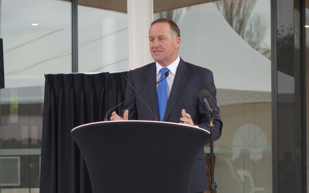 Prime Minister John Key at the opening of the refugee centre.
