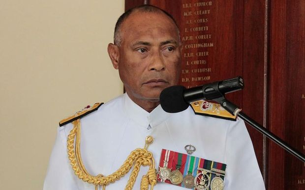 The commander of Fiji's military, Viliame Naupoto.
