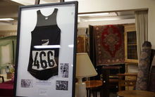 The black singlet Peter Snell wore during his twin gold medal runs at the 1964 Tokyo Olympics is going under the hammer.