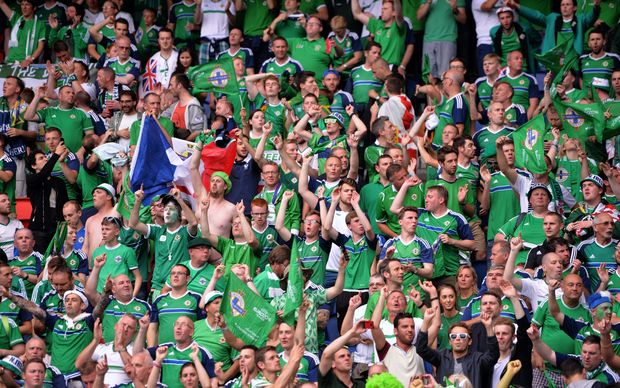 Northern Ireland football supporters 2016.