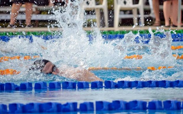 Action from day one of the Oceania Swimming Championships in Suva.