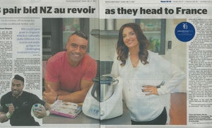 Photo of the Herald story about Victor and Amber Vito and their Thermomix.