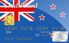 NZ flag on credit card