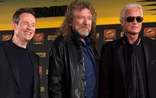 Led Zeppelin's (L-R) John Paul Jones, Robert Plant and Jimmy Page in 2012.