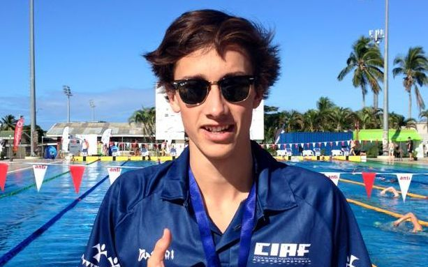 Cook Islands swimmer Wesley Robert at the Oceania Championships.