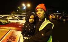 Park-up for Otara organiser Cat Ruka with her daughter