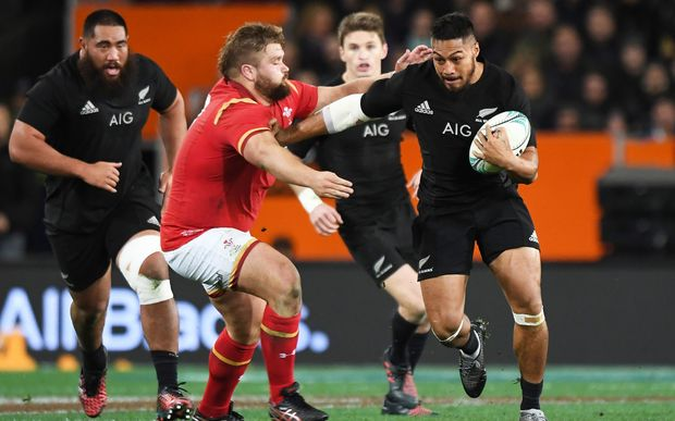 George Moala in action against Wales 2016.
