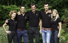 2016 Rio Olympic Games New Zealand Equestrian Team, Julie Brougham, Jonathan Paget, Sir Mark Todd, Clarke Johnstone, Jonelle Price.