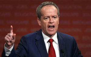 Leader of Australia's Labor Party, Bill Shorten, speaks to the audience at the launch of the party's election campaign in Sydney on June 19, 2016.