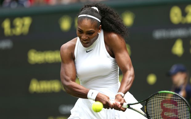 Serena Williams at Wimbledon 2016.