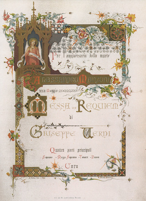 Title page of first edition of Verdi Requiem