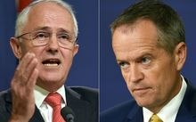 Australian Prime Minister Malcolm Turnbull, left, and opposition Labor Party leader Bill Shorten.