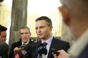29062016 Photo RNZ / Rebekah Parsons-King. Green Party Co-leader James Shaw.