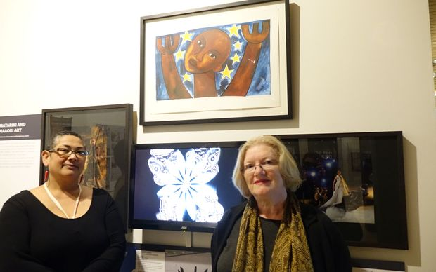 Waikato Museum institutional curator Leafa Wilson and exhibition curator Ann Hardy