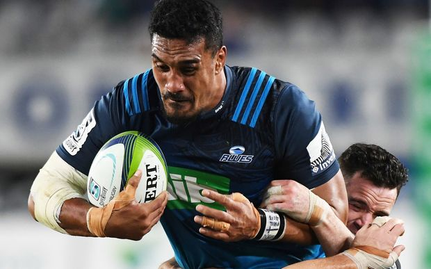 Flanker Jerome Kaino and fellow All Blacks Patrick Tuipulotu, and Ofa Tu'ungafasi return to the Blues lineup.