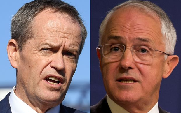 Bill Shorten and Malcolm Turnbull face off for the top job in Australia.