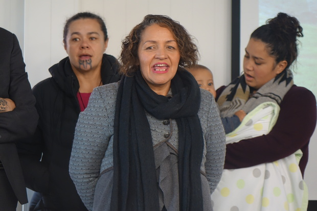 Streams and rivers are a lifeblood for Maori and they should be safe to drink and gather food from, says Marama Fox (centre).