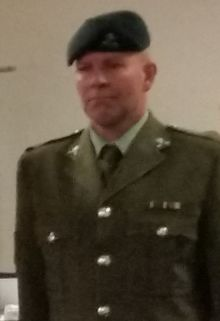 Glen Edward Roberts at a court martial at Linton Military Camp on Monday 4 July.