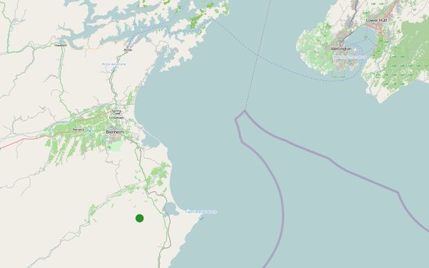 Earthquake geonet screenshot