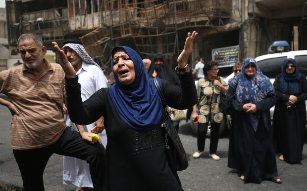Iraq has declared three days of mourning over a deadly suicide bombing in Baghdad's Karrada neighbourhood.