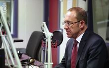 Andrew Little in RNZ's Wellington studios 5 July 2016.