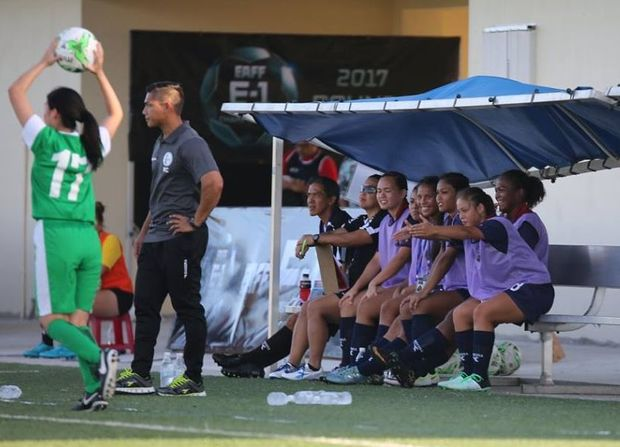 Guam women's football coach Mark Chargualaf.