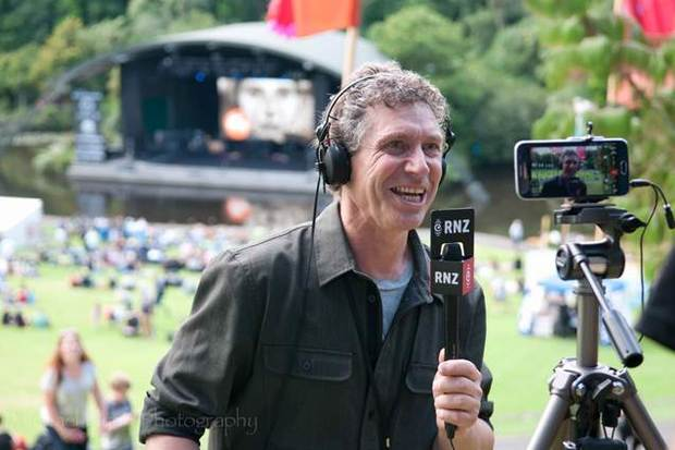 Nick Bollinger live on Checkpoint at WOMAD 2016