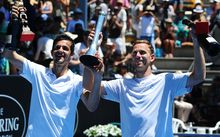 Michael Venus (right) and Mate Pavic have won four doubles titles this year.