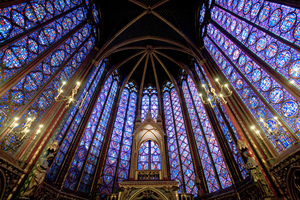 Windows of Sainte Chapelle, Paris