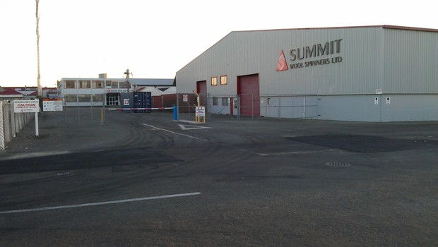 The Summit Wool Spinners factory in Oamaru.