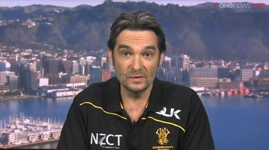 WRFU's will Caccia-Burke fronts up on TVNZ's Breakfast show.