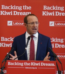 Andrew Little announces Labour's affordable housing policy in Auckland.
